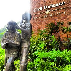 "http://TheEagerTraveller.com   ""The Civil Defence Heritage Gallery traces fire fighting and civil defence developments in Singapore from the late 1800s till modern day, and is intended as a twin vehicle for showcasing the Singapore Civil Defence Force's ("