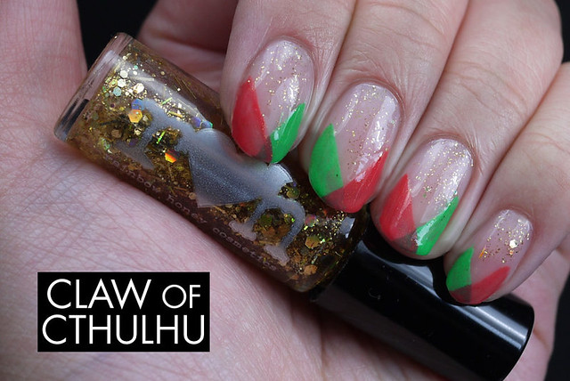 Multi-Color Chevrons Nail Art with Rainbow Honey FAB Summer Set