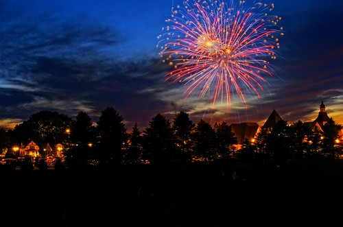 Fireworks in Frankenmuth, MI