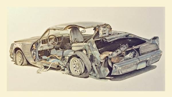 dibujos de carros chocados