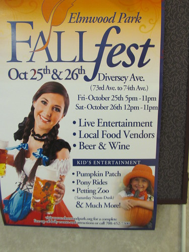The Elmwood Park Illinois 2013 Fall Fest advertisement. by Eddie from Chicago