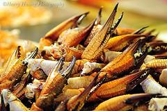 海產攤上的石蟳腳。圖片來源:黃基峰
