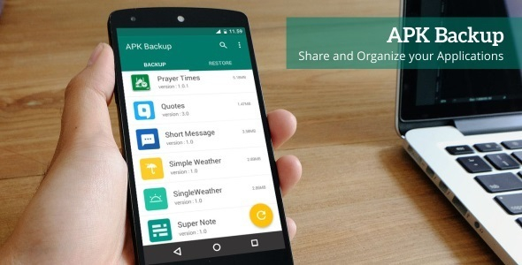 APK Backup v1.2- Android App