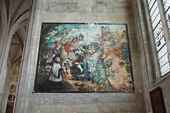 Peinture murale d'une chapelle de la collégiale Saint-Gervais-Saint-Protais