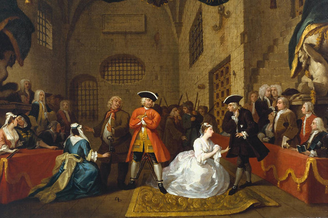 Detail of William Hogarth's A Scene from 'The Beggar's Opera' VI (1731)