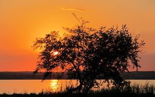 Sunset over lake Siutghiol (AP4J2624 1PS)