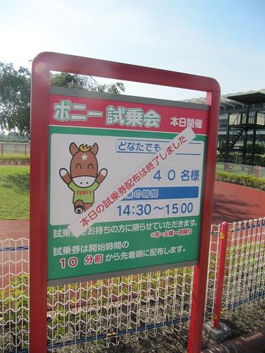 中京競馬場のポニー試乗会案内