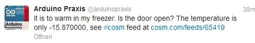 Cosm Feed Trigger Tweet