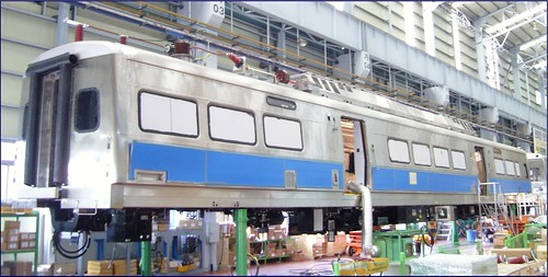 Photo of Commuter Rail Pilot Car at assembly plant