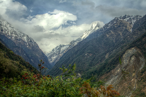 nepal mountain mountains nature valley annapurna hdr modi machapuchare
