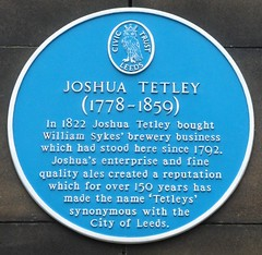 Photo of Joshua Tetley blue plaque