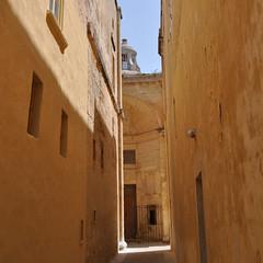 Orange walls of Mdina