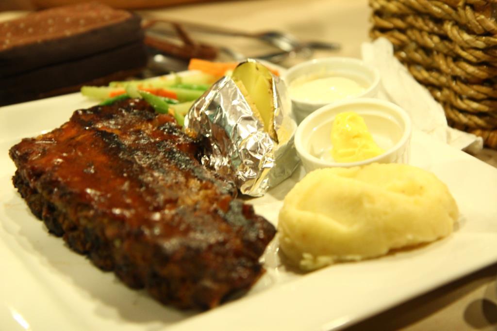 Steak w mash potatoes