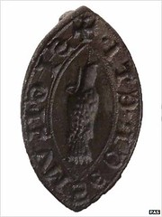 Medieval silver seal matrix