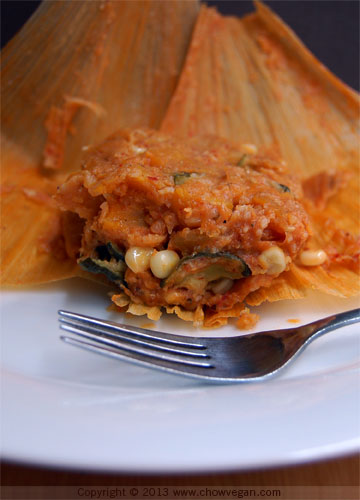 Roasted Butternut Squash Tamale