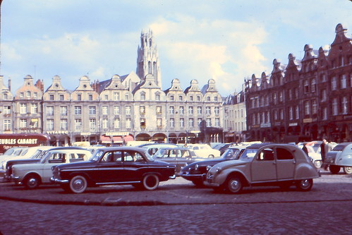 arras,la grand-place,été 1965