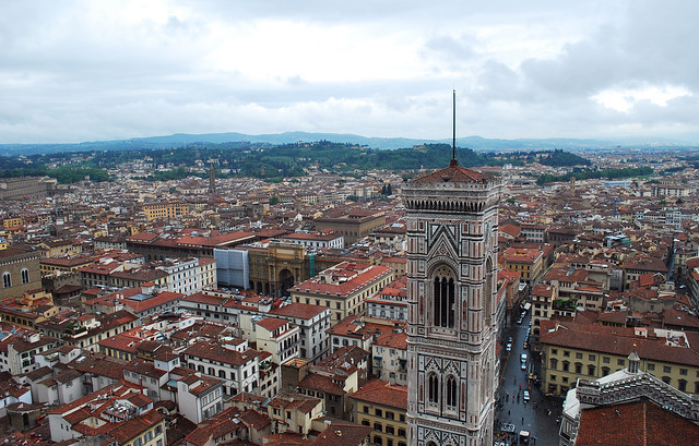 View from the top of Basilica di Santa Maria del Fiore (Duomo), Florence, Tuscany, Italy