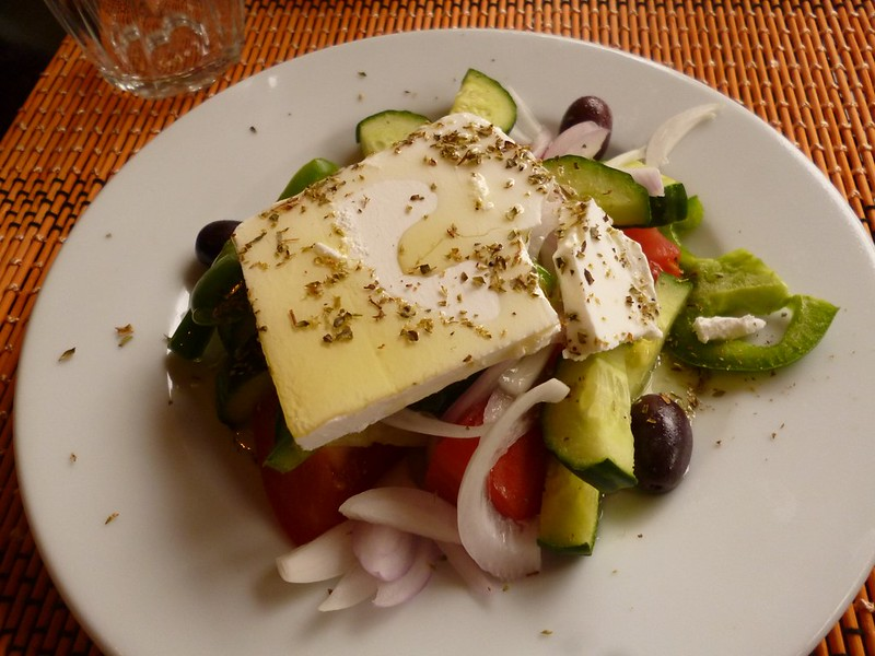 Greek salad and feta cheese