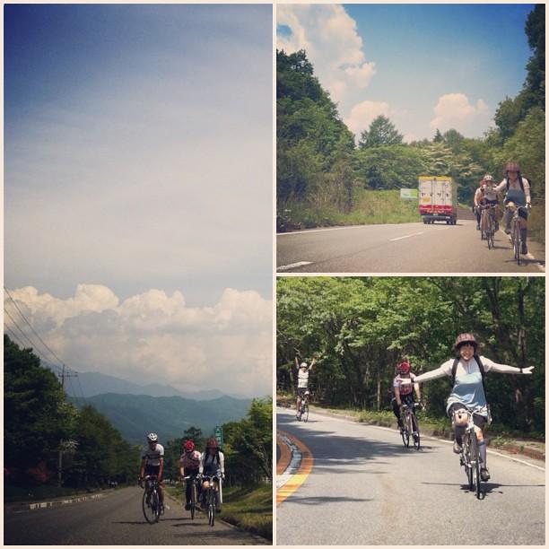 昨日楽しかったー。綺麗な青空と、山の涼しい風。1日だけど大きな旅だった