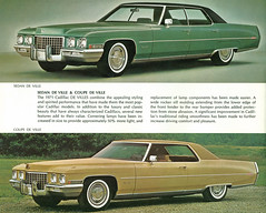 1971 Cadillac Sedan de Ville and Coupe de Ville
