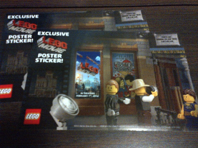 The LEGO Movie poster stickers for Palace Cinema
