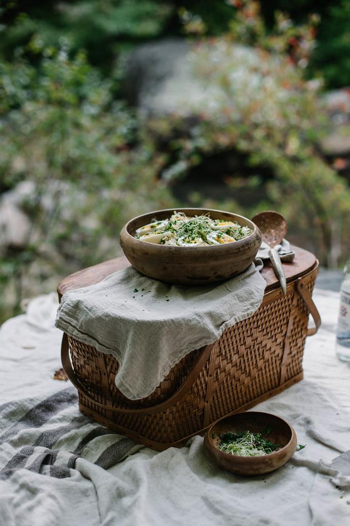 藜麦&烤茴香和防风草沙拉配生蜂蜜醋汁