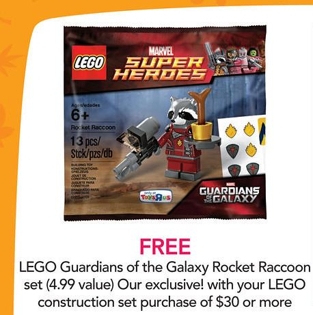LEGO Marvel Super Heroes Rocket Raccoon (5002145) Toys R Us Ad