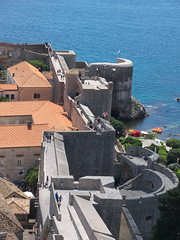 Pila gate, seen from the Minceta Tower