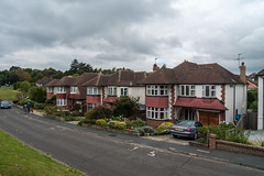 Suburbia seen from the London Loop path