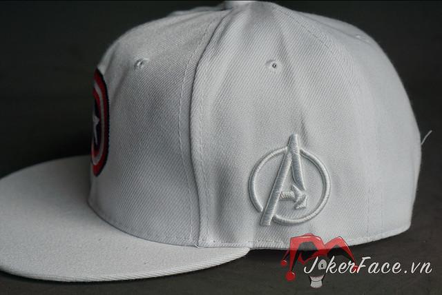 Mũ Snapback Captain America trắng - Marvel