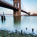 The iconic Brooklyn Bridge and the Manhattan Bridge in background.