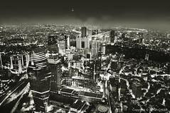 Nightscape Monochrome Istanbul