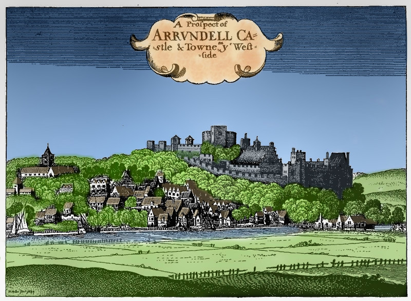 Arundel Castle and Town in 1644