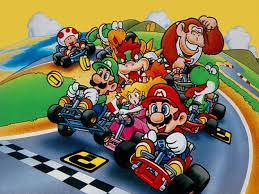 Mario w wyścigach kartingowych