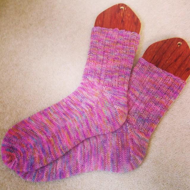 Déjà Vu socks - déjà done!