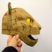 cardboard tiger head