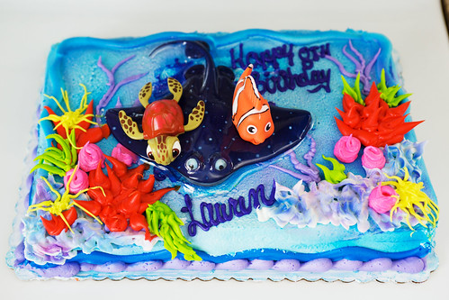 Fishy birthday cake.
