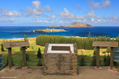 Looking over Nepean Island and Phillip Island from Queen Elizabeth Lookout (Lizzies), Rooty Hill,Norfolk Island