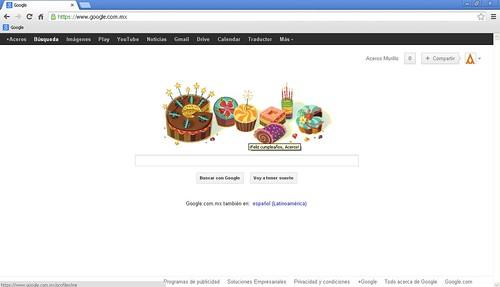 A su estilo, así nos felicita Google.. by Aceros Murillo
