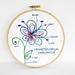 Botany Diagram Embroidery Hoop Art, Make-Believe Flower