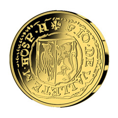 Malta gold Five Euro reverse