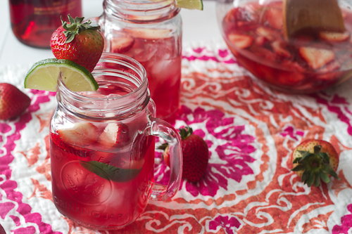 Strawberry Rose Sangria #Brunchweek