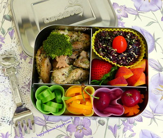 Herby Chicken Lunchbots Bento