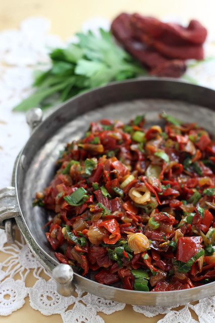 Sun-Dried Red Pepper Salad by Olga Irez of Delicious Istanbul