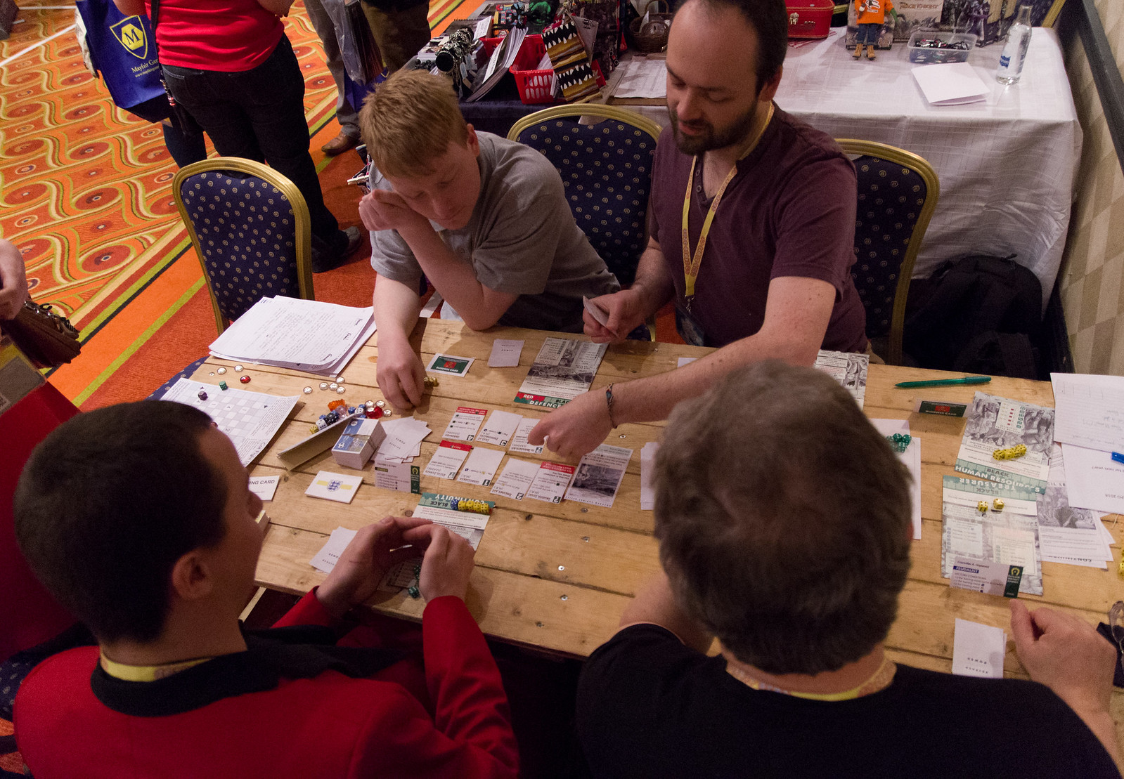 A picture of playtesting at the 2013 UK Games Expo