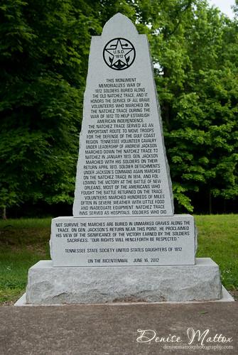 Natchez Trace: 1812 Memorial