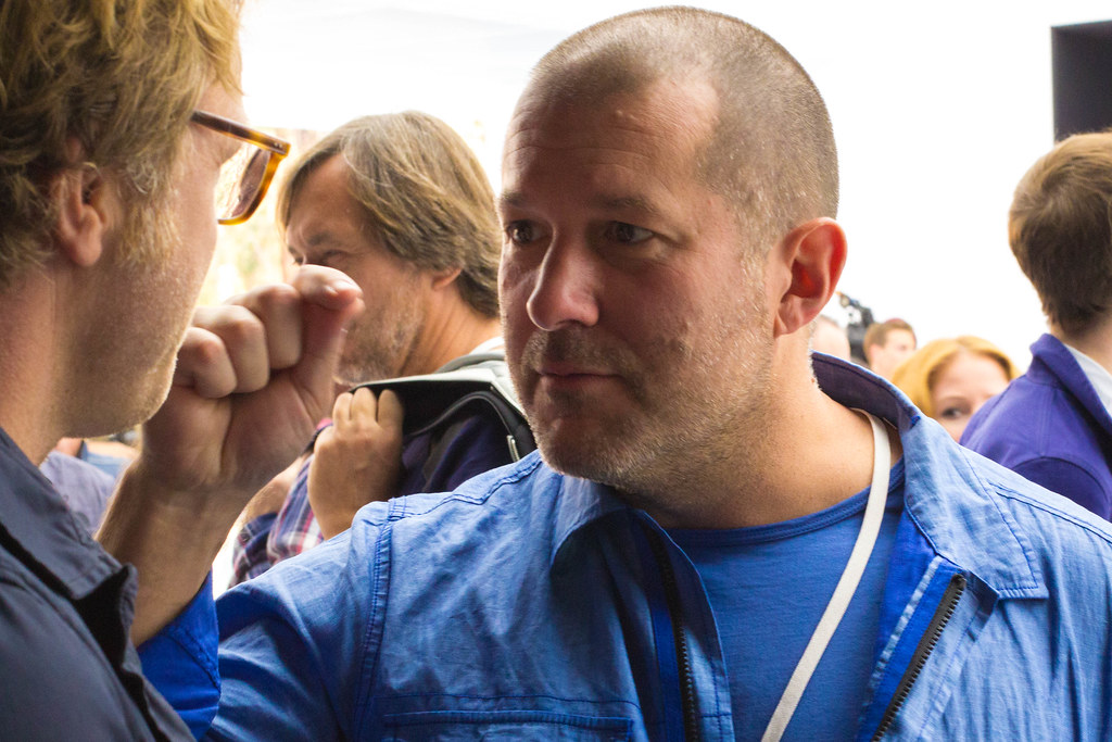Apple's Jony Ive at the iPhone 6 and Apple Watch unveiling in Cupertino, CA.