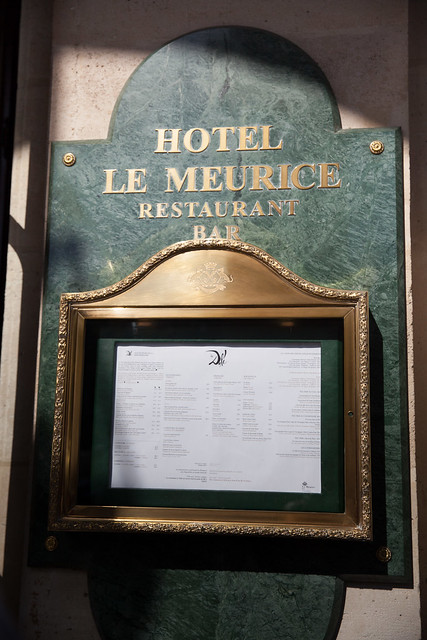 Entering Le Meurice