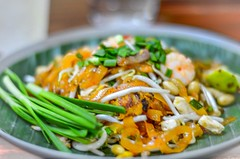Phad Thai Kung (Thai noodle with prawn)