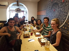Mongolian Food with hostel crew